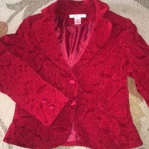 Nine & Company Red Fitted Blazer